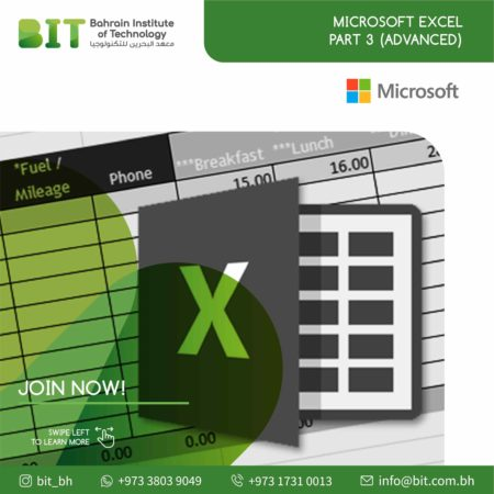 Microsoft Excel Part 3 (Advanced)